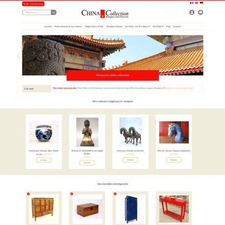 Page d'accueil de la boutique en ligne de China Collection