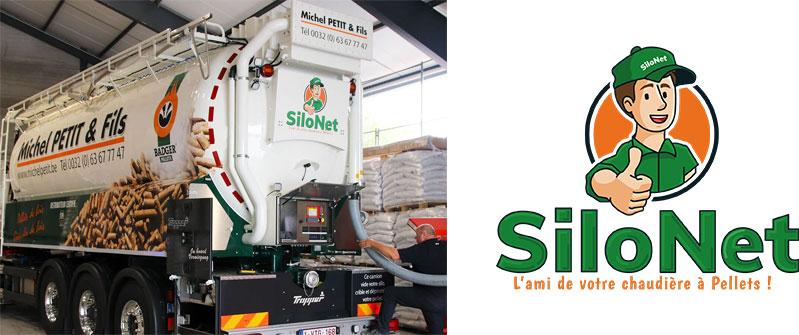 Photo du camion SiloNet et sa mascotte